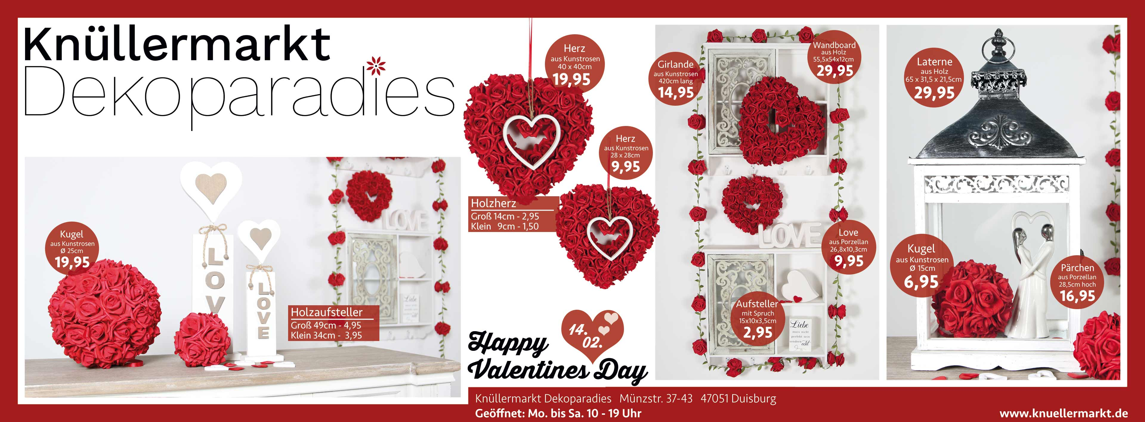 am 14 februar ist valentinstag kn llermarkt dekoparadies. Black Bedroom Furniture Sets. Home Design Ideas
