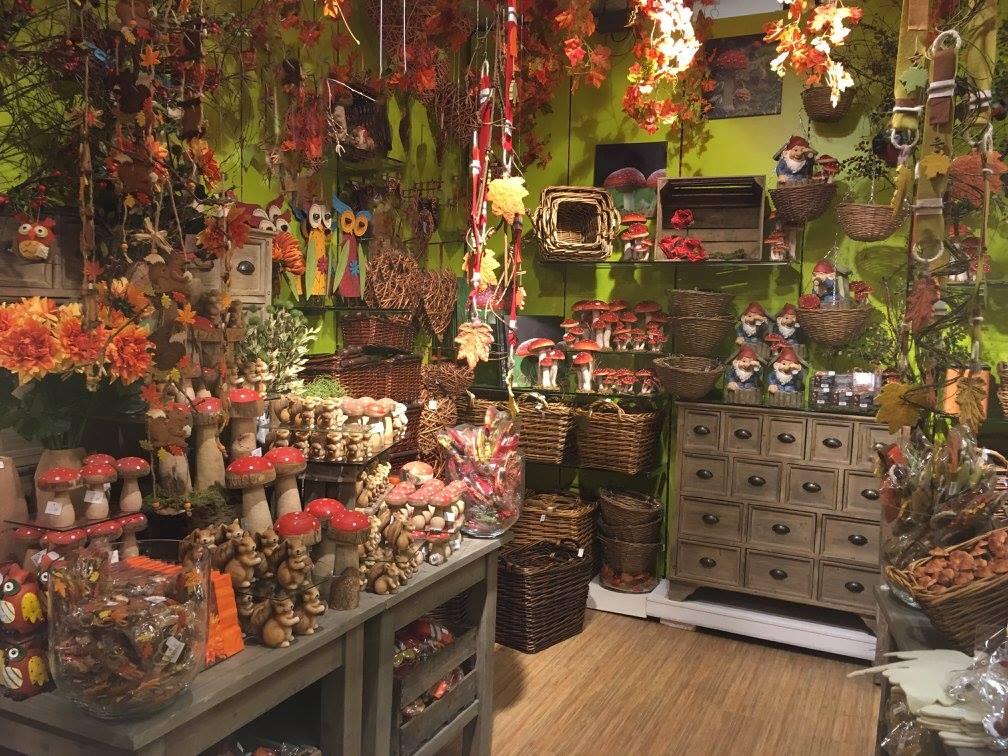 Herbstwelten-Kürbis-Körbe-Pilze-Blaetter-Leiter-Knuellermarkt