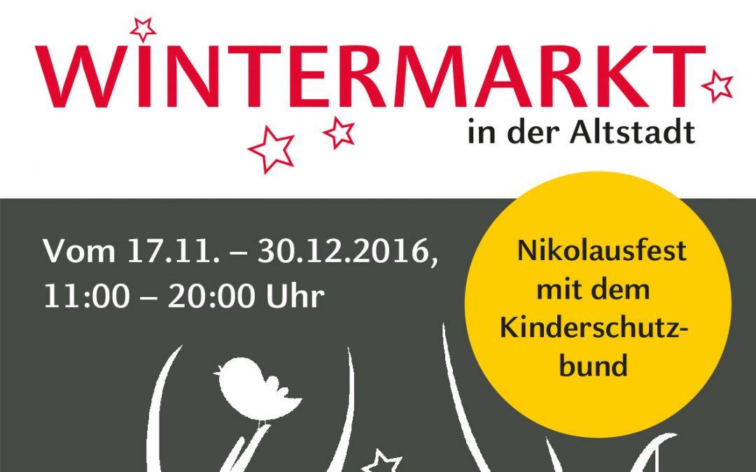 Wintermarkt auf dem Münzplatz