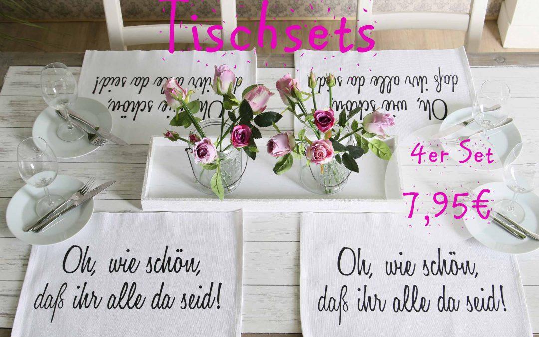 Tischset  4er 7,95€