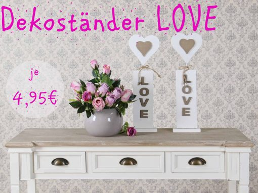 Holzständer LOVE je 4,95 €