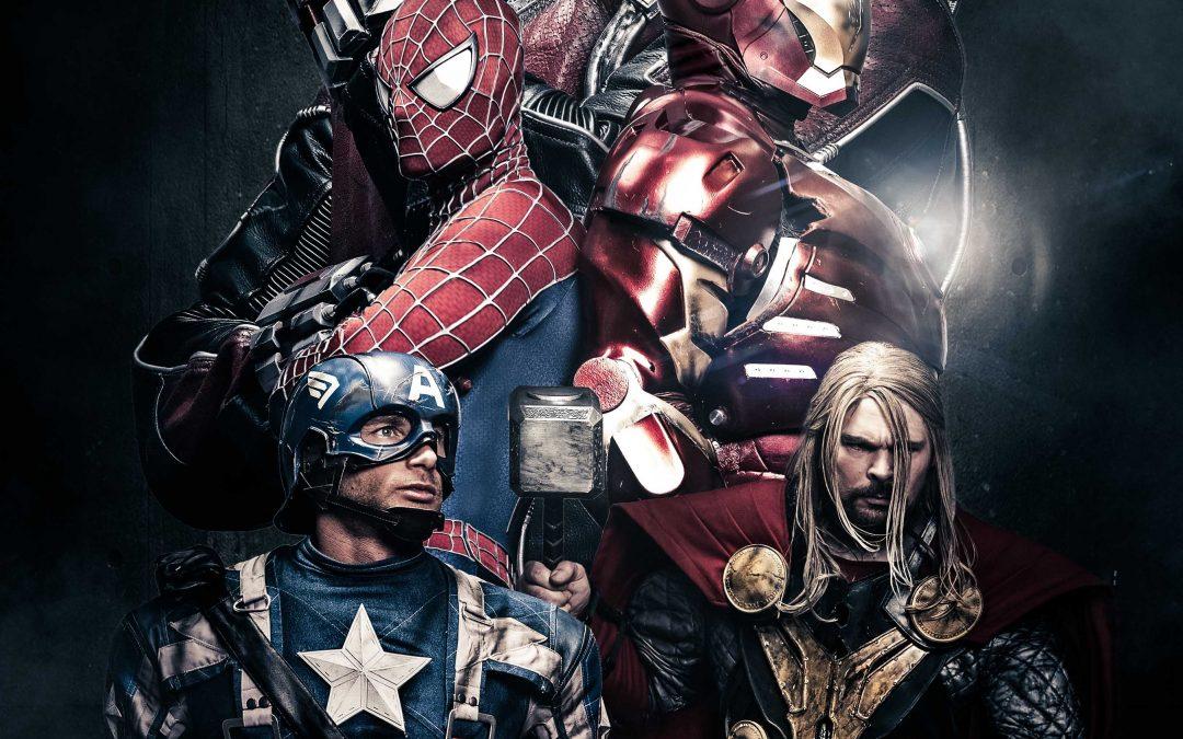 Fotoshooting mit CPT. America und Thor, dem Hammer