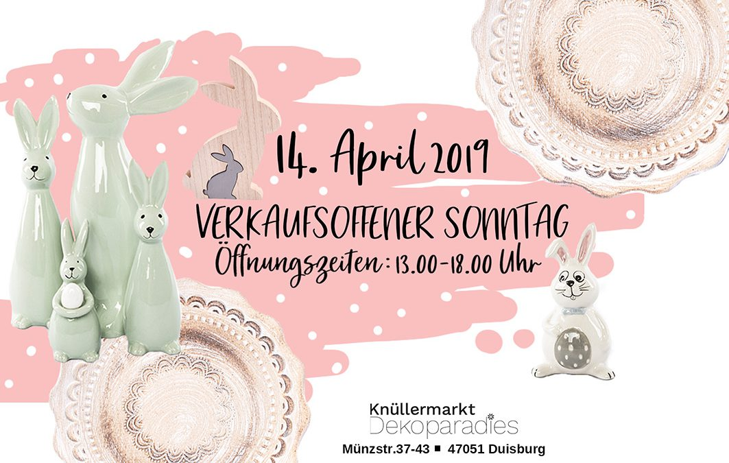 Sonntags-Ostershopping am 14. April